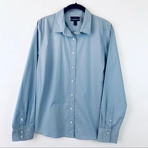 New J Crew Stretch Perfect Button Front Shirt L